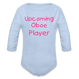 Upcoming Oboe Player - Organic Longsleeve Baby Bodysuit