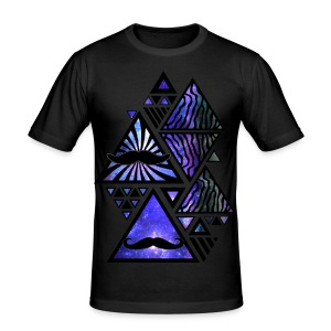 HipsterTriangles - Men's Slim Fit T-Shirt