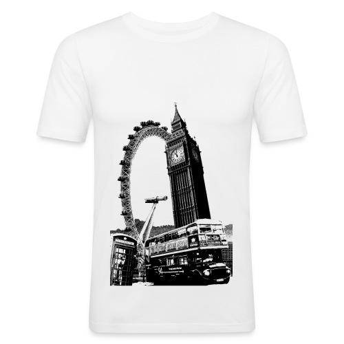 LondonIconsBlackWhite - Men's Slim Fit T-Shirt