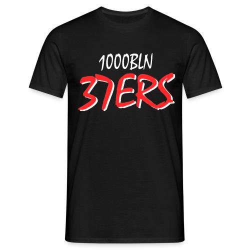 37ERS Tshirt Male Schwarz-Rot - Männer T-Shirt