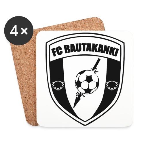 FC Rautakanki Lasinaluset - Lasinalustat (4 kpl:n setti)