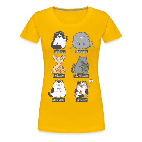 Aubkatzen - Frauen Premium T-Shirt