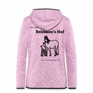 Fleece Jacke Reimann's Hof 'Stute mit Fohlen' - Frauen Kapuzen-Fleecejacke