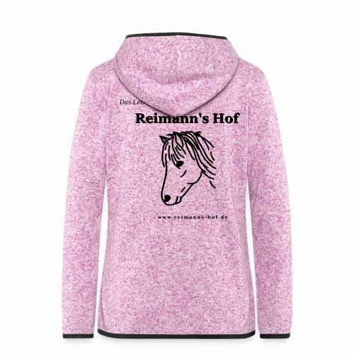 Fleece Jacke Reimann's Hof 'Ponykopf' - Frauen Kapuzen-Fleecejacke