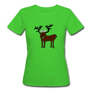 Damenhirschshirt - Frauen Bio-T-Shirt