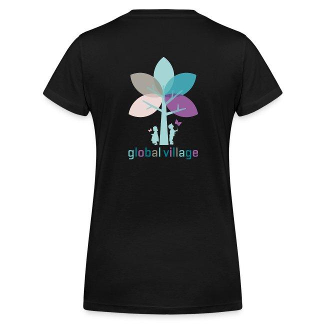 Frauen T-Shirt mit V-Ausschnitt