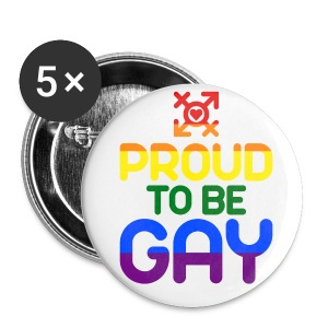 Proud to be Gay (bunt) - Buttons mittel 32 mm