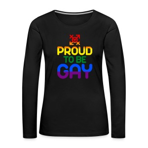 Proud to be Gay (bunt) - Frauen Premium Langarmshirt