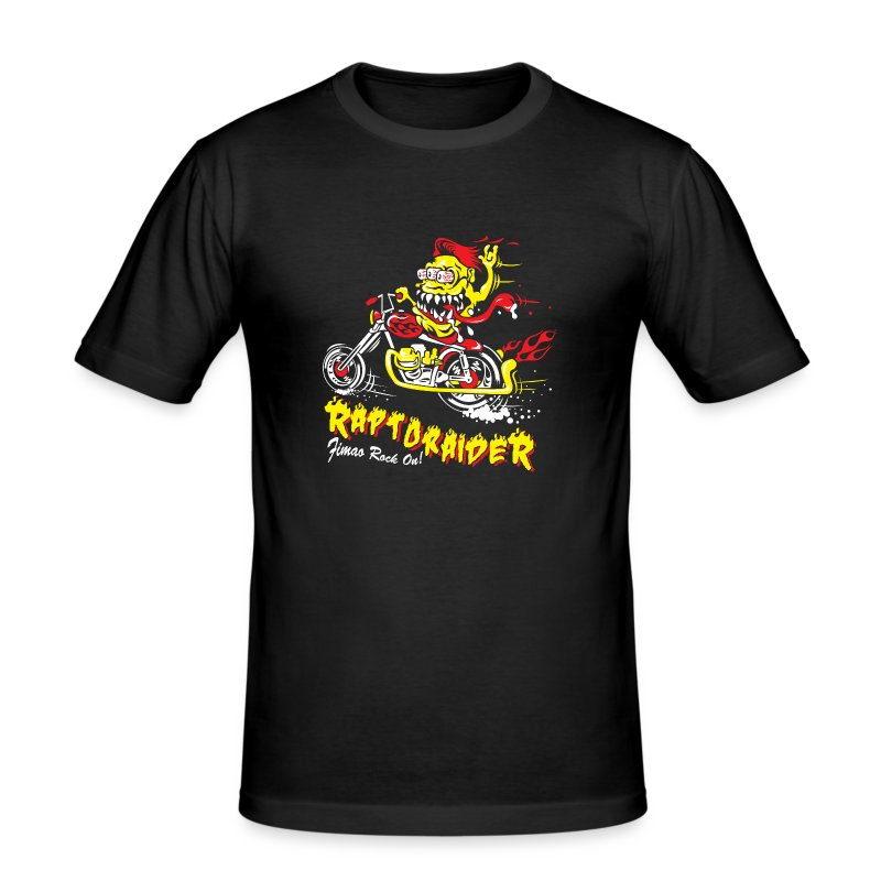 Monster 3 eyes RaptoRaideR - Maglietta aderente da uomo