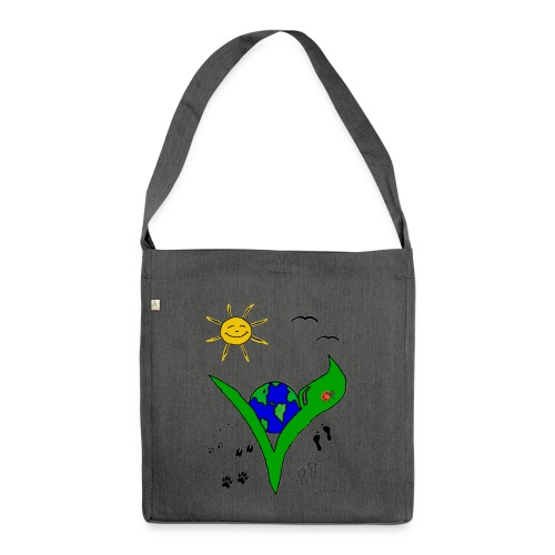 veggie BIO-Tasche - Schultertasche aus Recycling-Material