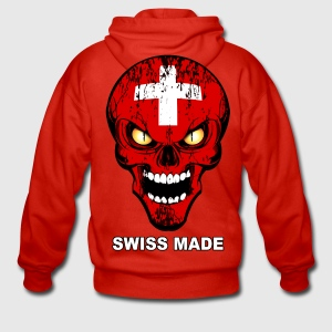 swiss made - skull 01 Sweat-shirts - Veste à capuche Premium Homme
