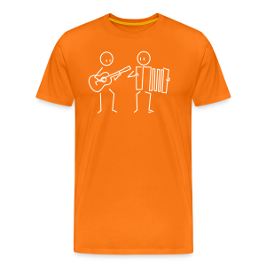 Duo guitar / accordion - Men's Premium T-Shirt