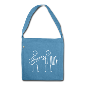 Duo guitar / accordion - Shoulder Bag made from recycled material
