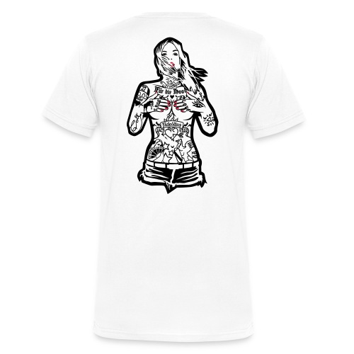 InkCin  - Mannen bio T-shirt met V-hals van Stanley & Stella