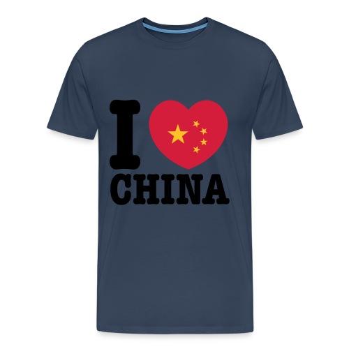 I Love China - Männer Premium T-Shirt