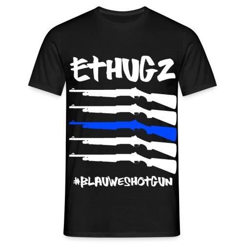 Ethugz | Blauwe Shotgun - Mannen T-shirt