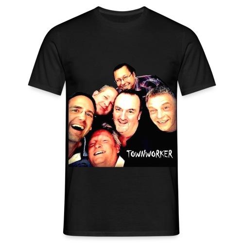TOWNWORKER Herren-T-Shirt (mit Band-Foto) - Männer T-Shirt