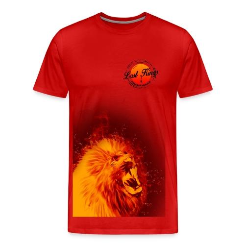 Lion on Fire - Men's Premium T-Shirt