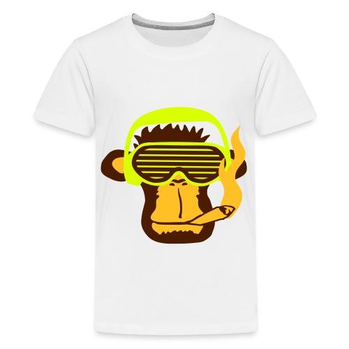 Monkey smoking  for teenagers - Teenage Premium T-Shirt