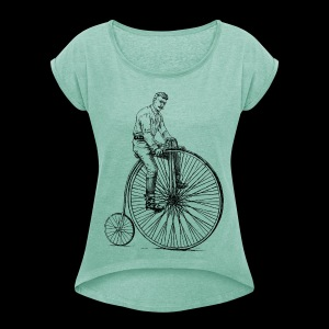 Old bike - Women's T-shirt with rolled up sleeves