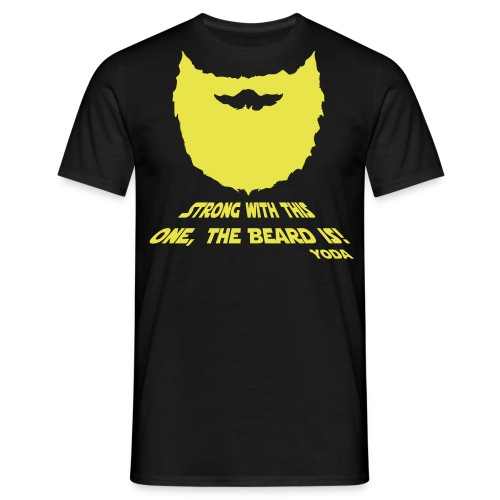 Strong with this one, the beard is! - Mannen T-shirt