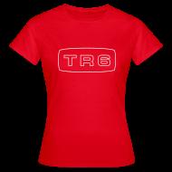 T-skjorter ~ T-skjorte for kvinner ~ Triumph TR6 emblem script
