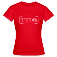 T-Shirts ~ Women's T-Shirt ~ Triumph TR6 emblem script