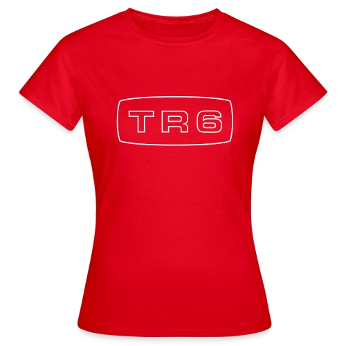 Triumph TR6 emblem script - T-skjorte for kvinner