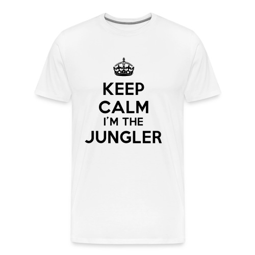 T-shirt blanc Keep calm I'm the Jungler - T-shirt Premium Homme