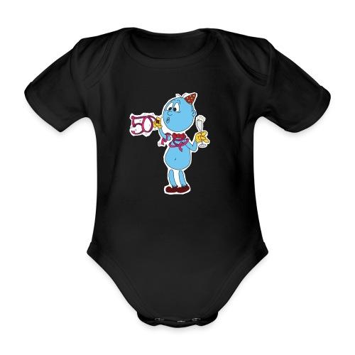Baby Body Männchen vorne - Baby Bio-Kurzarm-Body