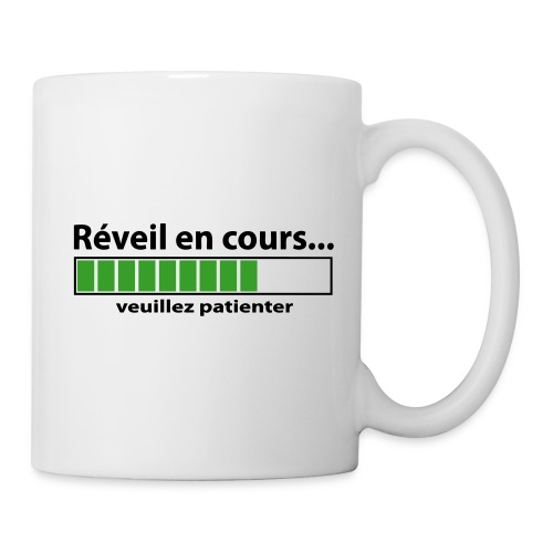 la tasse réveil - Mug blanc