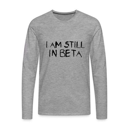 Beta-versio - Miesten premium pitkähihainen t-paita