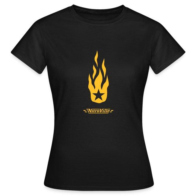 NITROVILLE official band t-shirt for women (firebrand)
