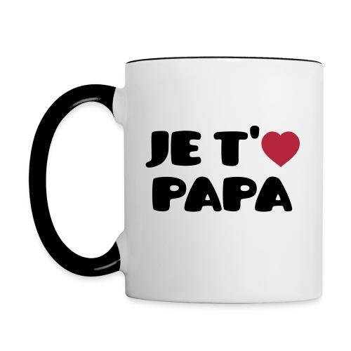 Je t'aime papa - Mug contrasté