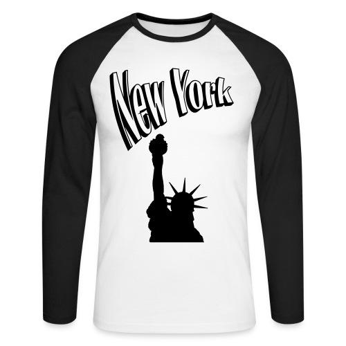 New York, New York - Men's Long Sleeve Baseball T-Shirt