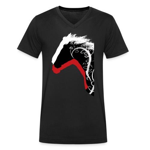 Drei Pferde - Männer Bio-T-Shirt mit V-Ausschnitt von Stanley & Stella