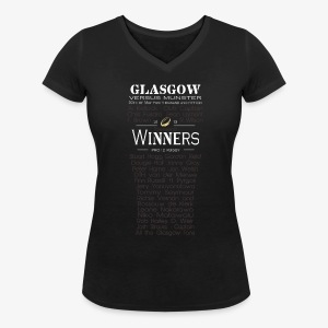 Glasgow PRO12 Winners Glass - Women's Organic V-Neck T-Shirt by Stanley & Stella