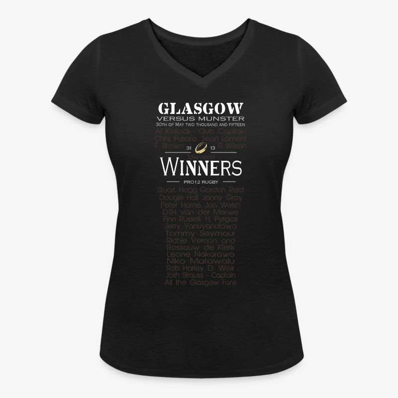 Glasgow PRO12 Winners Glass - Women's V-Neck T-Shirt