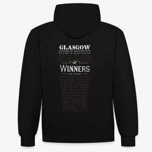Glasgow PRO12 Winners Glass - Contrast Colour Hoodie