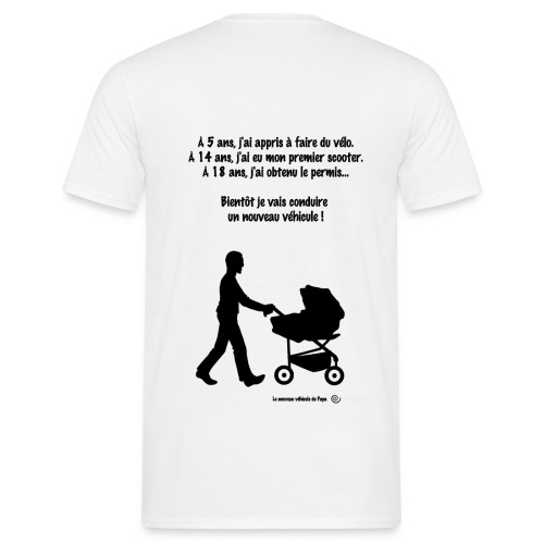 T-shirt permis poussette R/V - T-shirt Homme