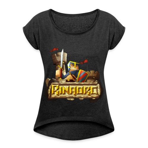T-shirt Femme à manches retroussées - Rinaorc - T-shirt à manches retroussées Femme