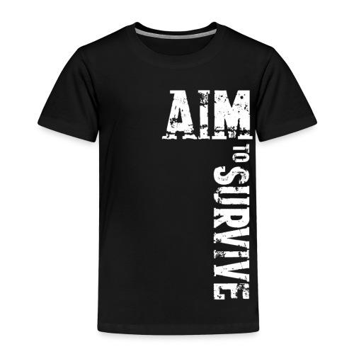 AIM TO SURVIVE - Kids schwarz - Kinder Premium T-Shirt