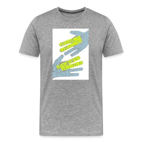 »Flüchtlinge Willkommen« - Männer Premium T-Shirt