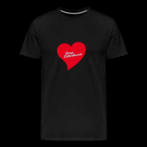 Dorp Lütterkusen - Herz - Männer Premium T-Shirt