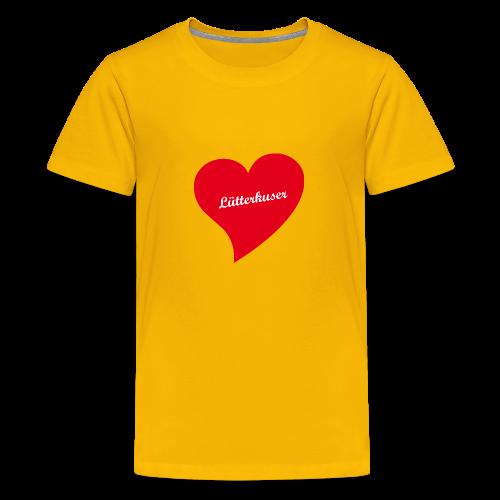 Lütterkuser - Herz - Teenager Premium T-Shirt