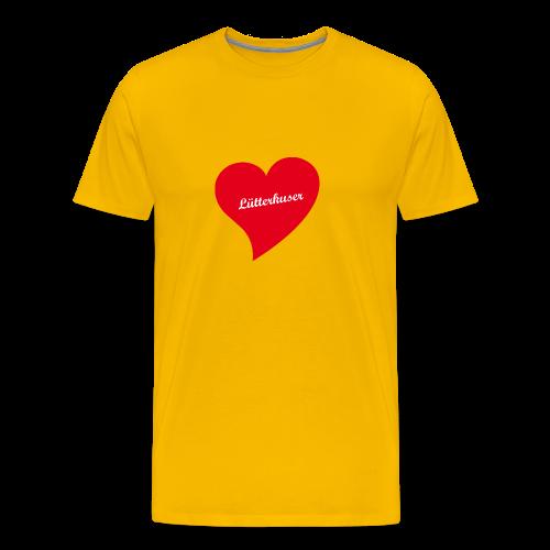 Lütterkuser - Herz - Männer Premium T-Shirt