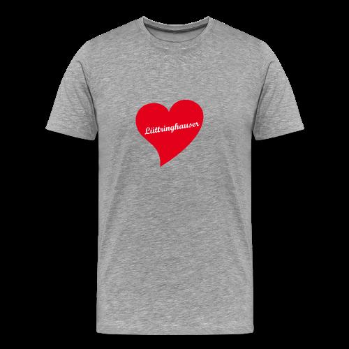 Lüttringhauser - Herz - Männer Premium T-Shirt
