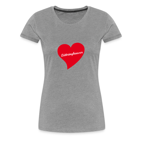 Lüttringhauser - Herz - Frauen Premium T-Shirt