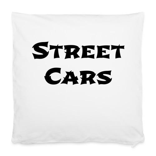 Street Cars - Kussen (Zwart) - Kussensloop 40 x 40 cm