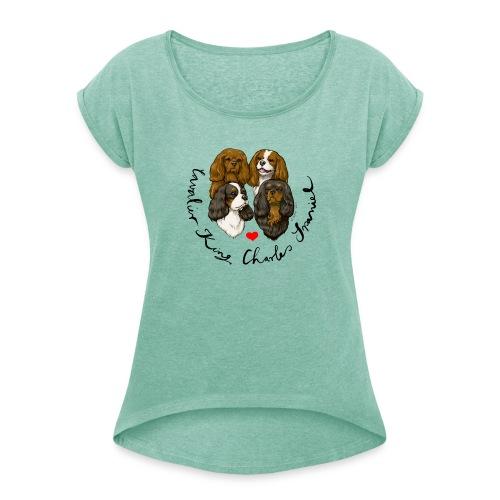 CKCS Shirt Logo - Frauen T-Shirt mit gerollten Ärmeln